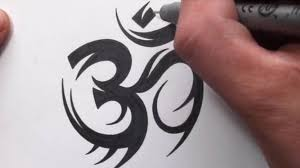 tatoo design tribal how to draw a tribal om symbol tattoo design youtube