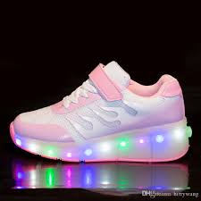 light up tennis shoes for jiagelin boys girls glint light up single wheel double wheels kids