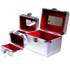 Vanity Makeup Box Buy Nesting Trio Of Vanity Cosmetic Jewellery Make Up Case Storage