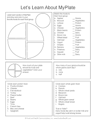 myplate kids color handout tearpad food groups worksheets and