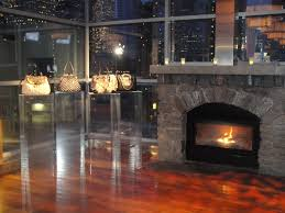 apartments modern seattle penthouses with stone fireplace