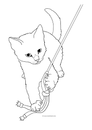 6 images of tabby cat coloring pages tabby warrior cat line art