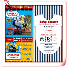invitations thomas and friends u0026 baseball theme baby shower