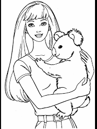 barbie coloring pages printable princezny barbie