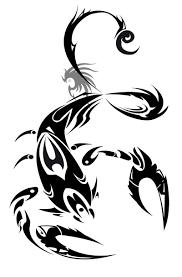 tribal zodiac viii scorpion design tattoes idea 2015