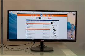 ordinateur de bureau tout en un comparatif comparatif de deux écrans 29 pouces 21 9 de lg et dell macgeneration