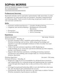 verizon wireless solution specialist resume sample dedham