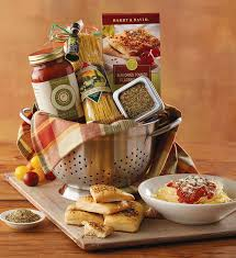italian food gift baskets cucina d italia colander gift italian gift baskets harry david