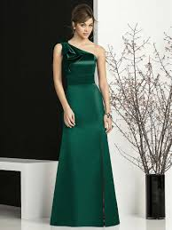 dresses for wedding buy cheap green one shoulder satin dress for wedding party
