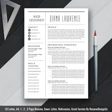 Resumes Templates For Mac Word 2017 Professional Resume Template Cv Template Instant Download Ms