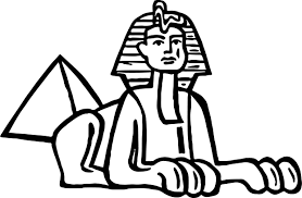 ancient egypt pyramid statue coloring page wecoloringpage