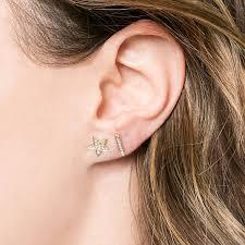 gold bar stud earrings sylvie diamond bar earrings designs