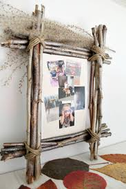 halloween picture frame crafts diy rustic photo frame made with twigs