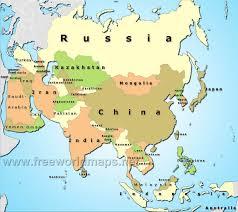 asain map political map hd