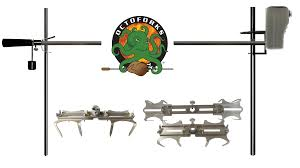 Fire Pit Rotisserie by Octoforks Electric Dual Post Open Fire Rotisserie System 53