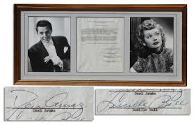 Desi Arnes by Lot Detail Lucille Ball U0026 Desi Arnaz Typed Contract Signed For