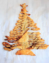 peanut christmas tree nutella peanut butter puff pastry christmas tree trial and eater