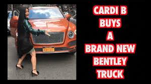 bentley truck cardi b buys a brand new bentley truck 2017 youtube