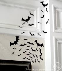 halloween bat wall decals flying bat silhouettes the scrap shoppe
