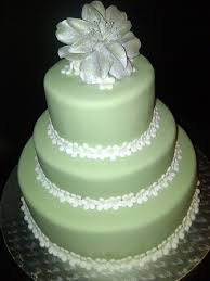 green and silver wedding cake cakecentral com