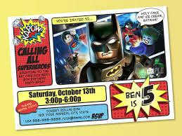 Superhero Invitation Card Batman Invitation Batman Birthday Batman Party Printable Batman