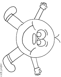 free smiley guy coloring page