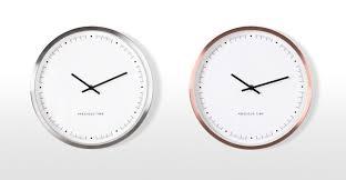 aurelia wall clock brushed steel made com