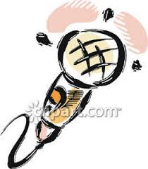 of a microphone royalty free clipart picture
