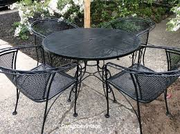 Rod Iron Patio Chairs Sold Mid Century Salterini Woodard Wrought Iron Patio Set