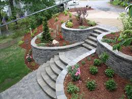 concrete retaining wall ideas for attractive garden landscape