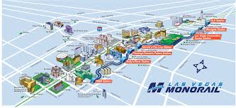 United Route Map Route Map Las Vegas Monorail