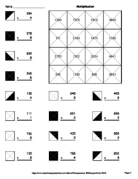 3 digit by 1 digit multiplication worksheets 3 digit by 1 digit multiplication coloring worksheets by whooperswan
