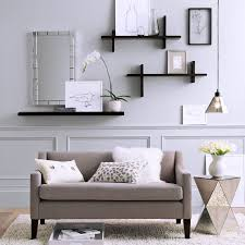 living room shelves home design spectacular white polished
