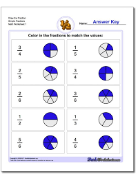printable math worksheets fractions fractions fractionsction math worksheets number lines to teacher