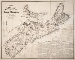Map Of Nova Scotia Church U0027s Mineral Map Of Nova Scotia Shewing By Symbols The Outcrop