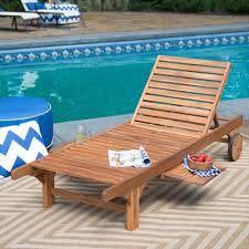 furniture triple floating pool lounge chair on wooden deck with