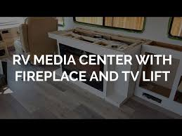 Media Center With Fireplace by Rv Media Center With Fireplace And Tv Lift Explorking