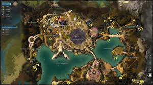 Gw2 World Map by Lions Arch Exterminator Karka Achievement 50 50 Map And