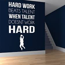 character quote sports hard work sports inspirational quotes wall sticker home art decals