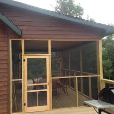 screen porch of eagles nest cabin lake vermilion vacation private