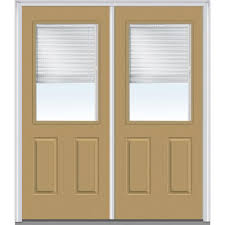 Home Depot 2 Panel Interior Doors by Mmi Door 64 In X 80 In Internal Blinds Clear Right Hand 1 2 Lite