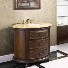Bow Front Vanity Decorative Vanity Cabinet Crestwood 36 Inch Marble Top
