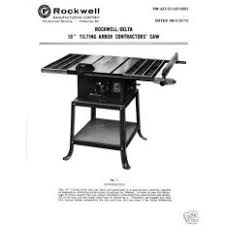Rockwell 10 Table Saw Table Saw For Sale Ioffer