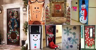 christmas door decorations 10 pretty christmas door decorations home design garden