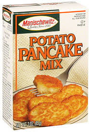 potato pancake mix manischewitz manischewitz potato pancake mix 3 0 oz nutrition information