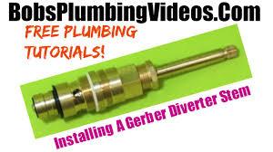 How To Fix My Shower Faucet Shower Diverter Valve Repair