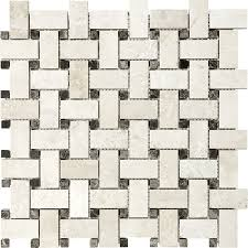 shop anatolia tile ivory travertine basketweave mosaic travertine