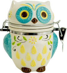 owl kitchen canisters hinged jar floral owl in kitchen canisters