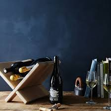white oak collapsible wine rack on food52