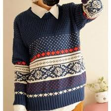 unique sweaters unique vintage pattern weave neck sweaters gifts for gifts